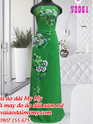 Vai Ao Dai V Hoa Doc Than
