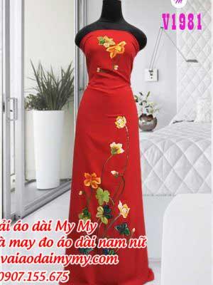 Vai Ao Dai Ve Hoa De Thuong