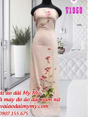 Vai Ao Dai Ve Hoa Nhe Nhang
