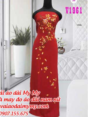Vai Ao Dai Ve Nhung Canh Hoa Tren Ao