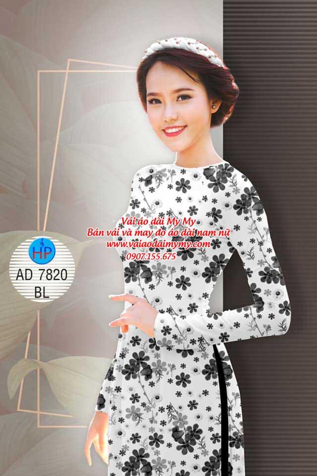Vải áo dài Hoa đều AD 7820 6