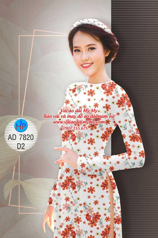 Vải áo dài Hoa đều AD 7820 2
