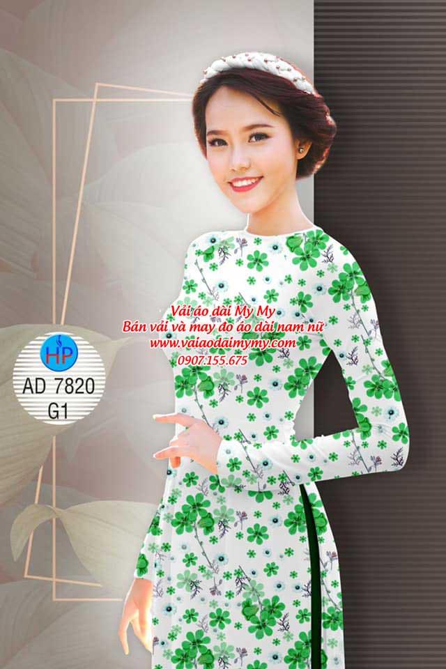 Vải áo dài Hoa đều AD 7820 1