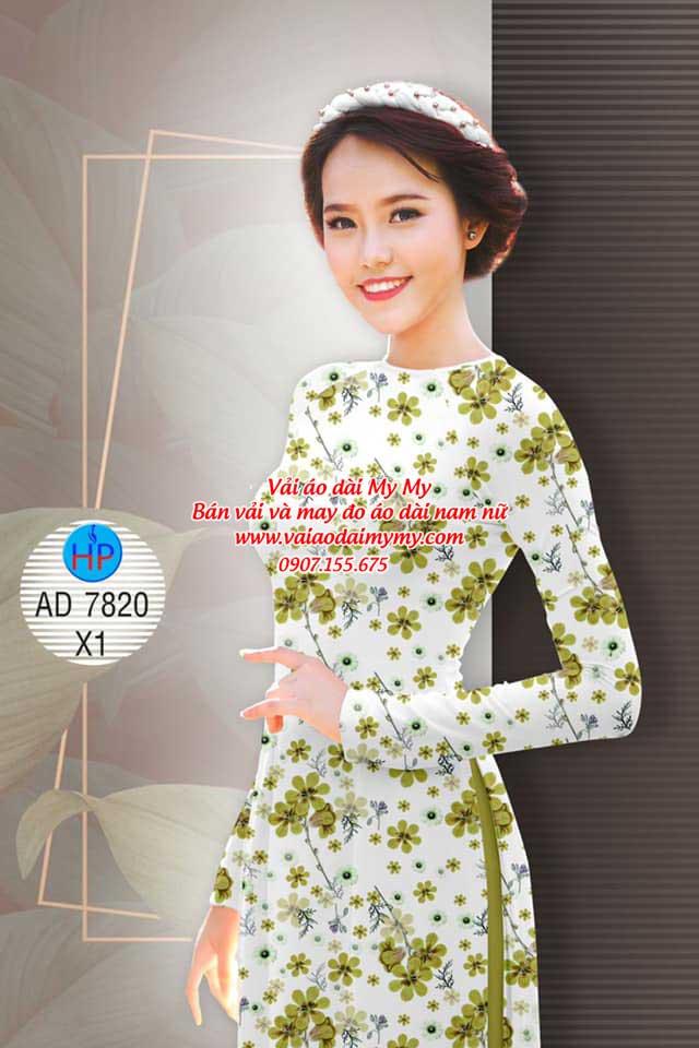 Vải áo dài Hoa đều AD 7820 7
