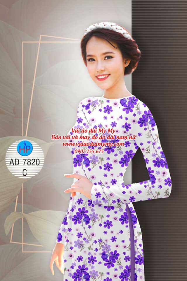 Vải áo dài Hoa đều AD 7820 5