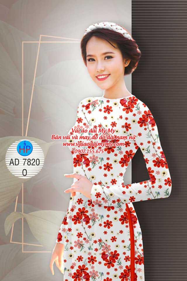 Vải áo dài Hoa đều AD 7820 4