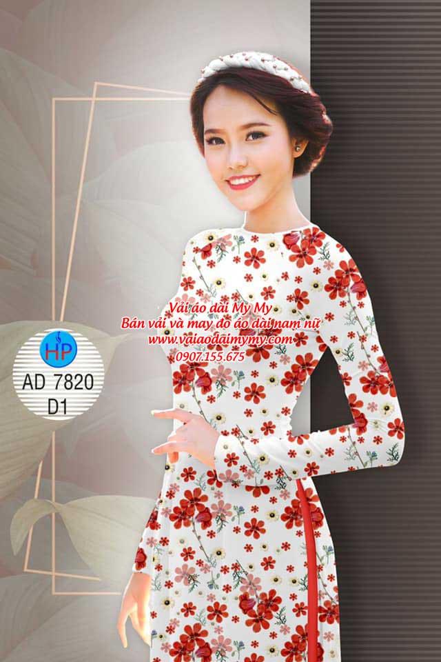 Vải áo dài Hoa đều AD 7820 3