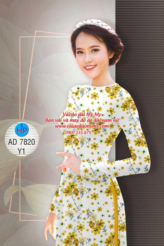 Vải áo dài Hoa đều AD 7820 8