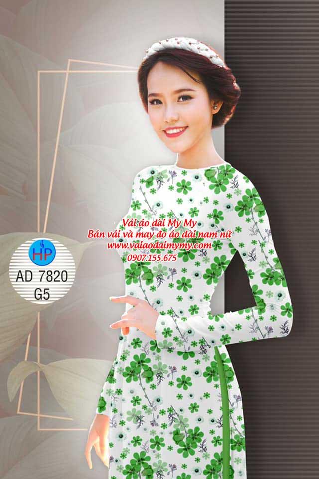 Vải áo dài Hoa đều AD 7820 15