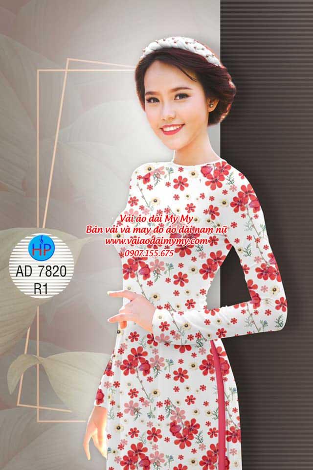 Vải áo dài Hoa đều AD 7820 11