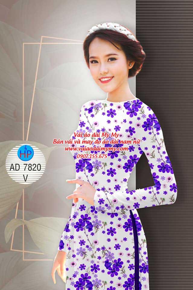 Vải áo dài Hoa đều AD 7820 10