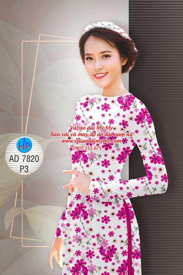 Vải áo dài Hoa đều AD 7820 14