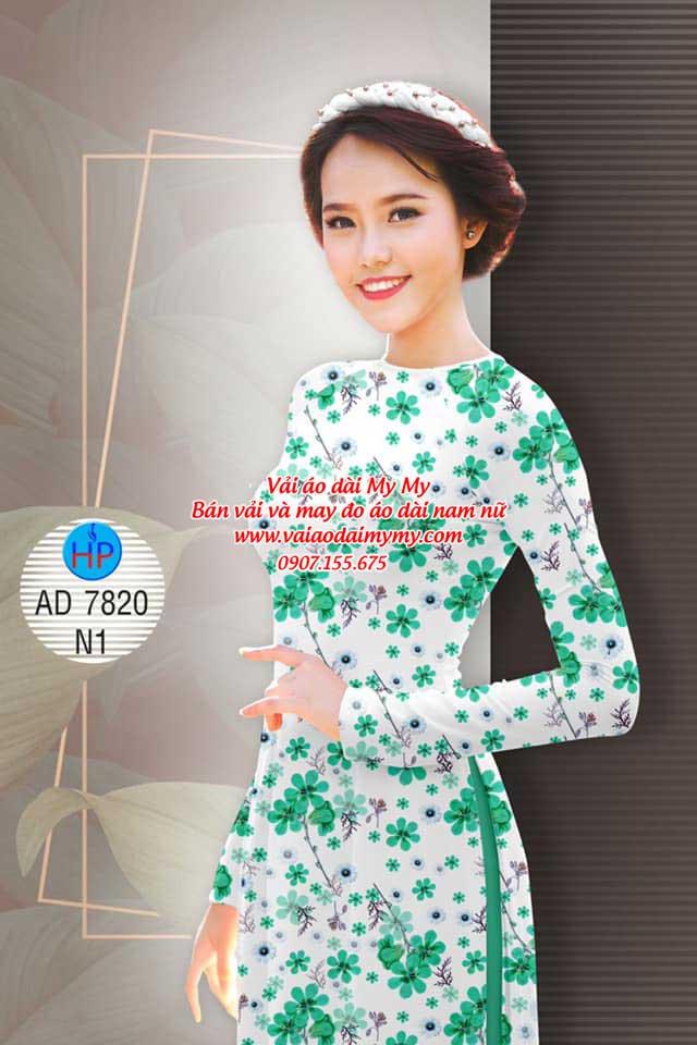 Vải áo dài Hoa đều AD 7820 16