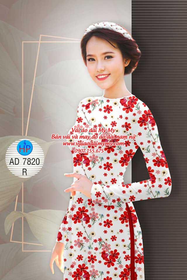 Vải áo dài Hoa đều AD 7820 13