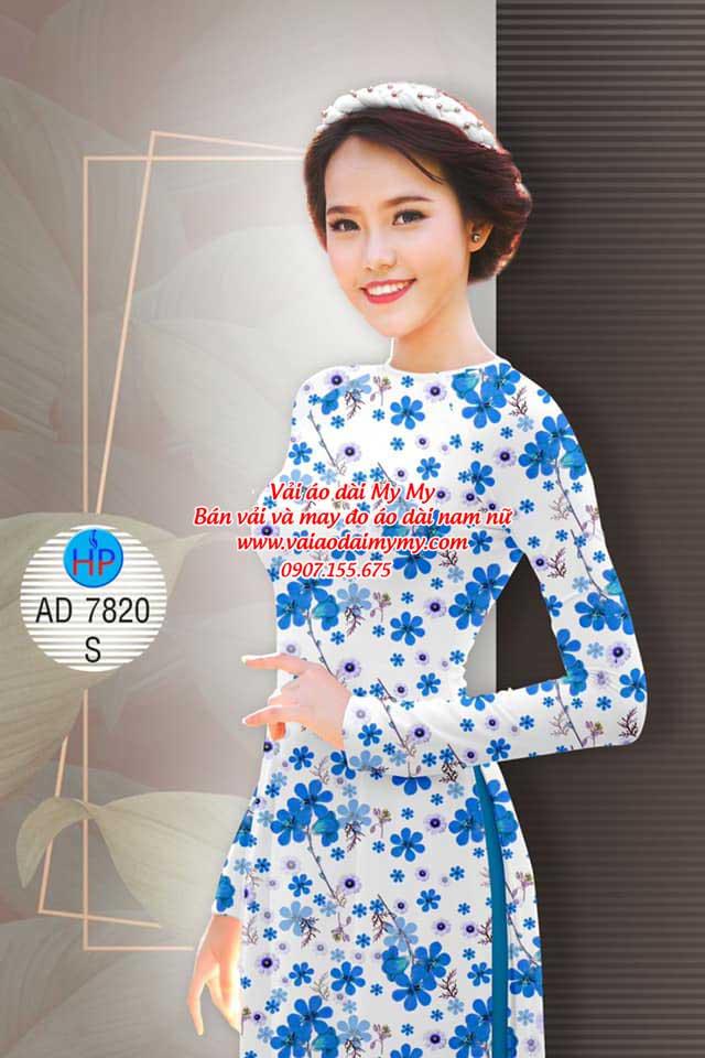 Vải áo dài Hoa đều AD 7820 9