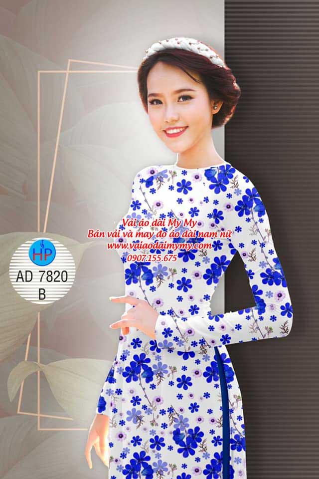 Vải áo dài Hoa đều AD 7820 17