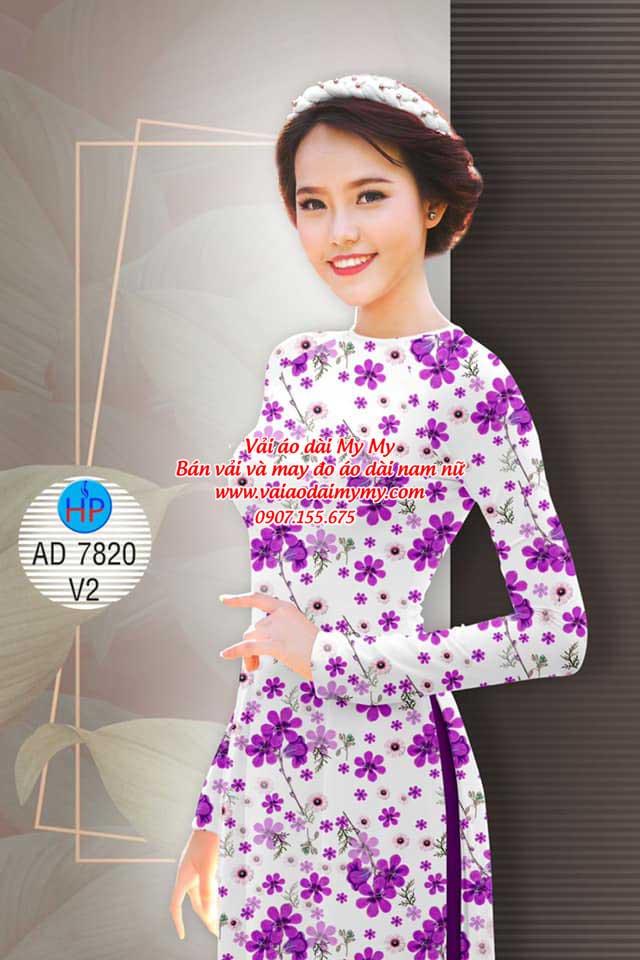 Vải áo dài Hoa đều AD 7820 12
