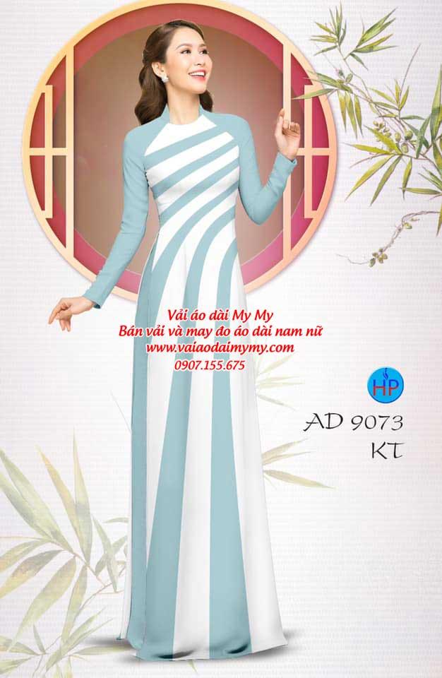 Vải áo dài hoa văn AD 9073 2