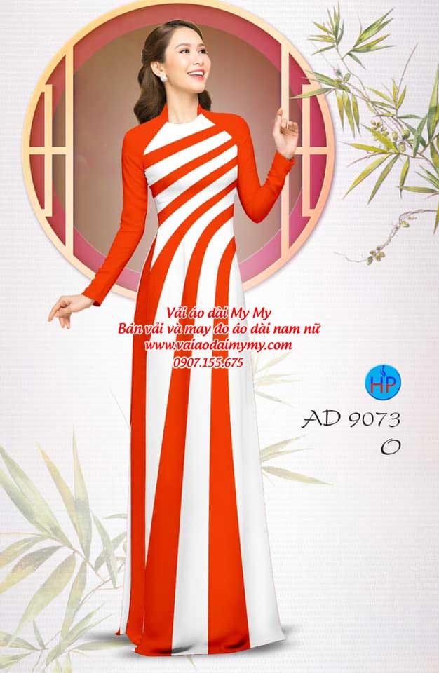 Vải áo dài hoa văn AD 9073 1