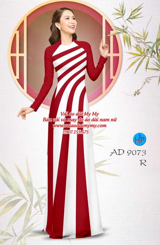 Vải áo dài hoa văn AD 9073 6