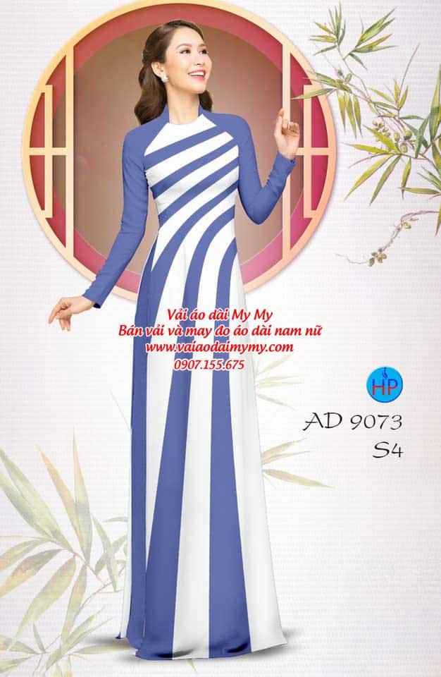 Vải áo dài hoa văn AD 9073 7
