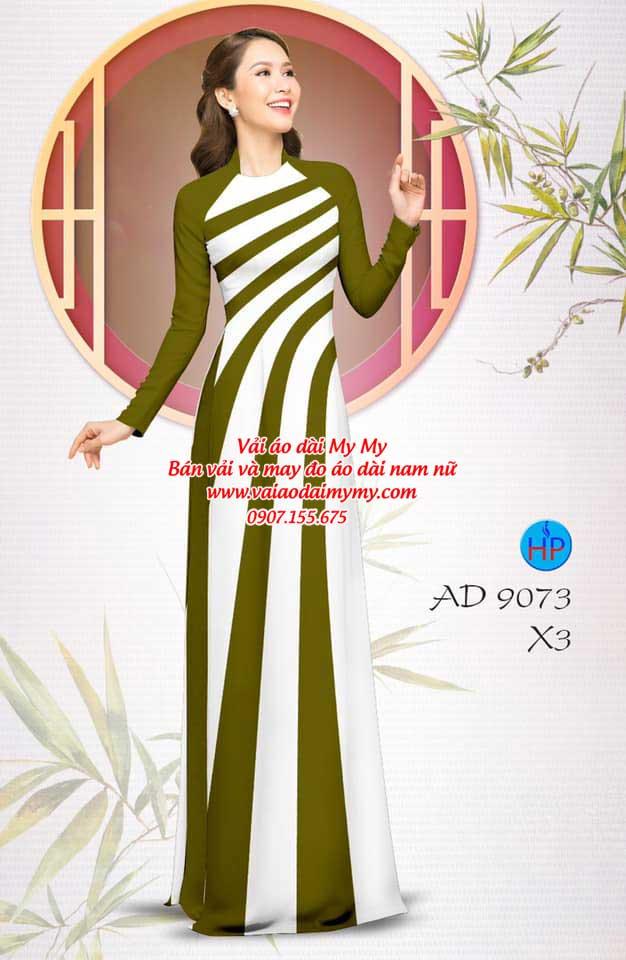 Vải áo dài hoa văn AD 9073 9