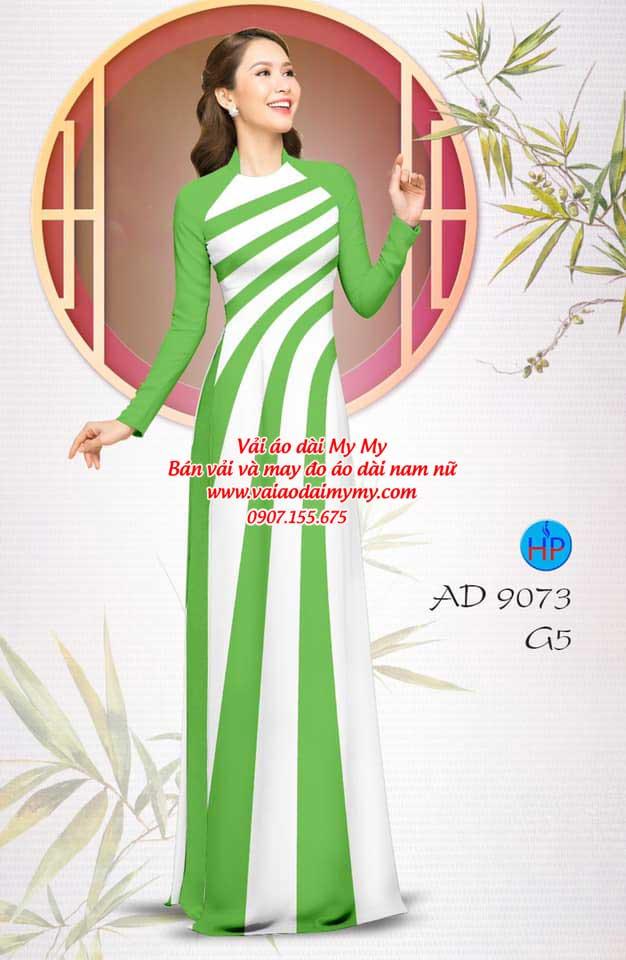 Vải áo dài hoa văn AD 9073 17