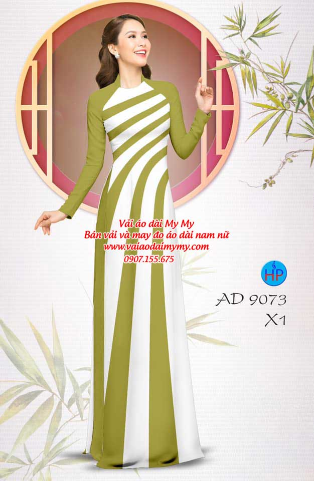 Vải áo dài hoa văn AD 9073 18