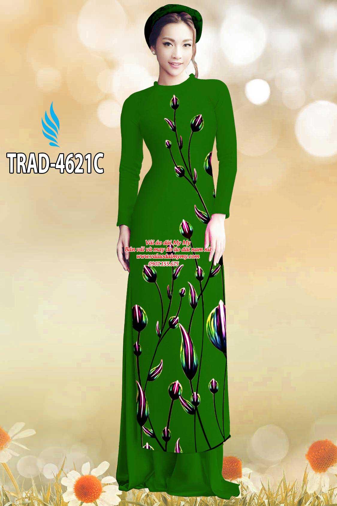 Vải áo dài búp hoa AD TRAD 4621 3