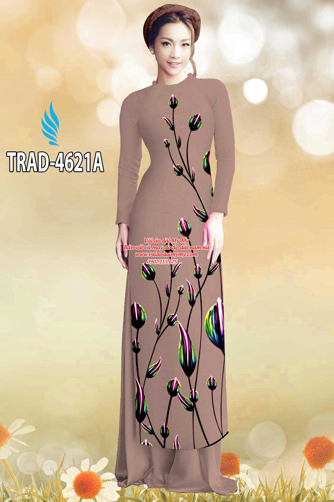 Vải áo dài búp hoa AD TRAD 4621 1