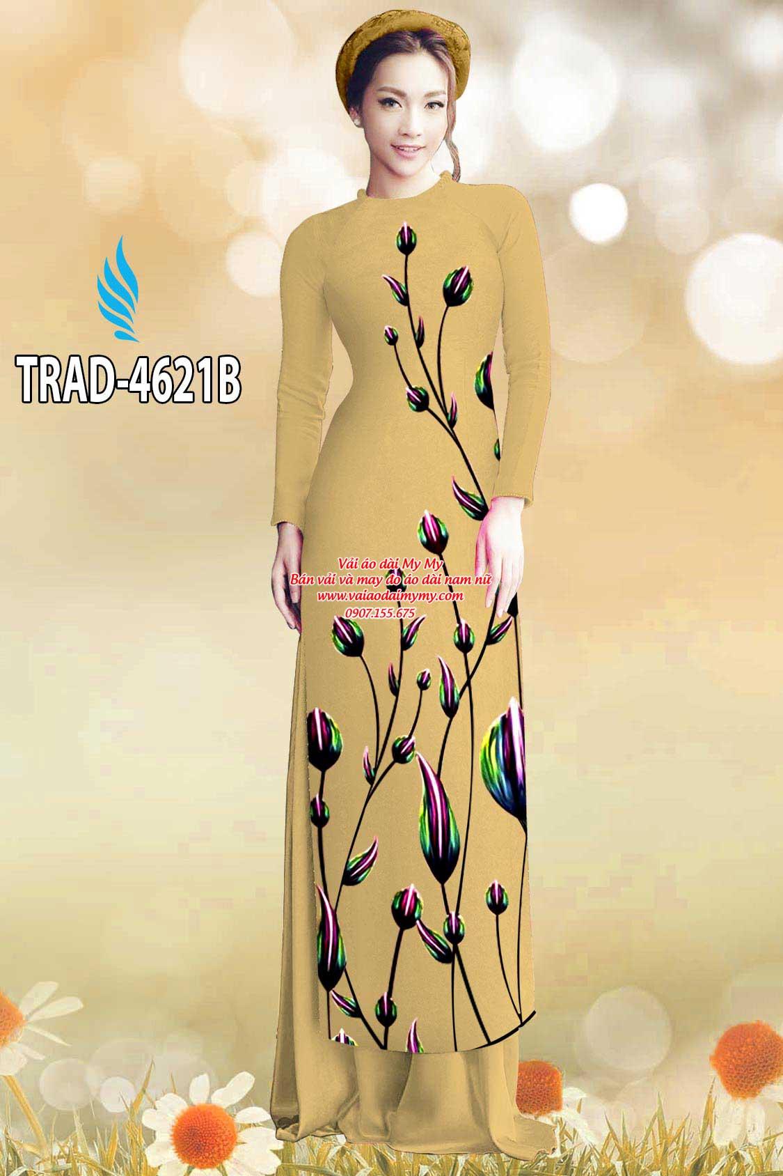 Vải áo dài búp hoa AD TRAD 4621 2