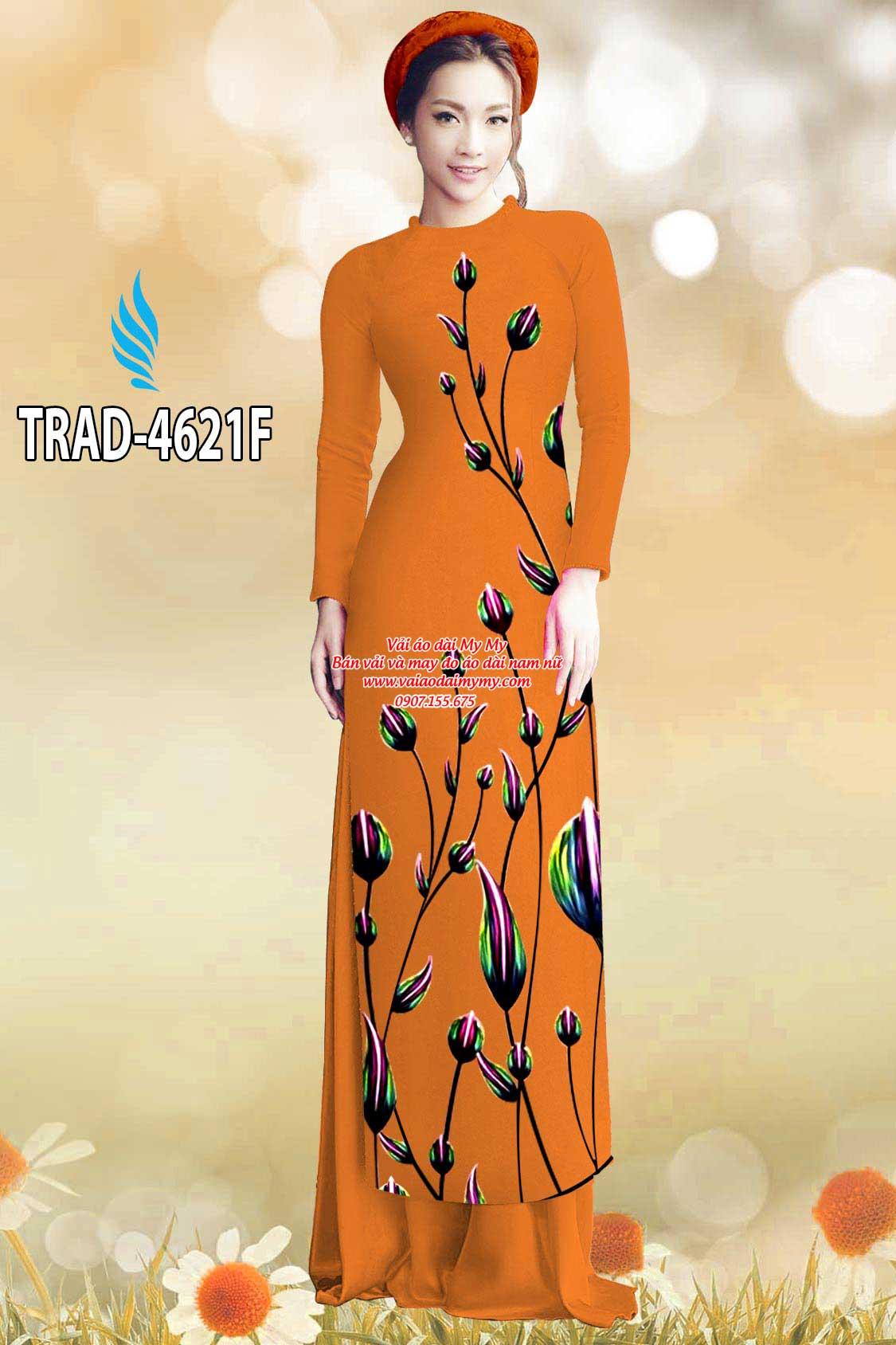 Vải áo dài búp hoa AD TRAD 4621 6