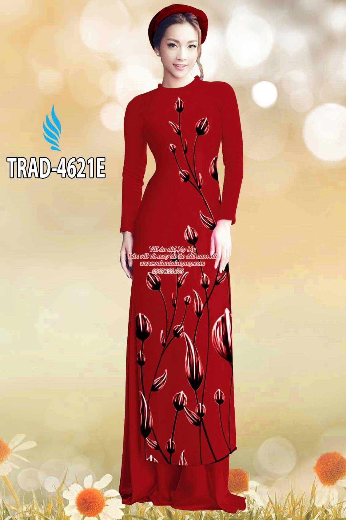 Vải áo dài búp hoa AD TRAD 4621 5