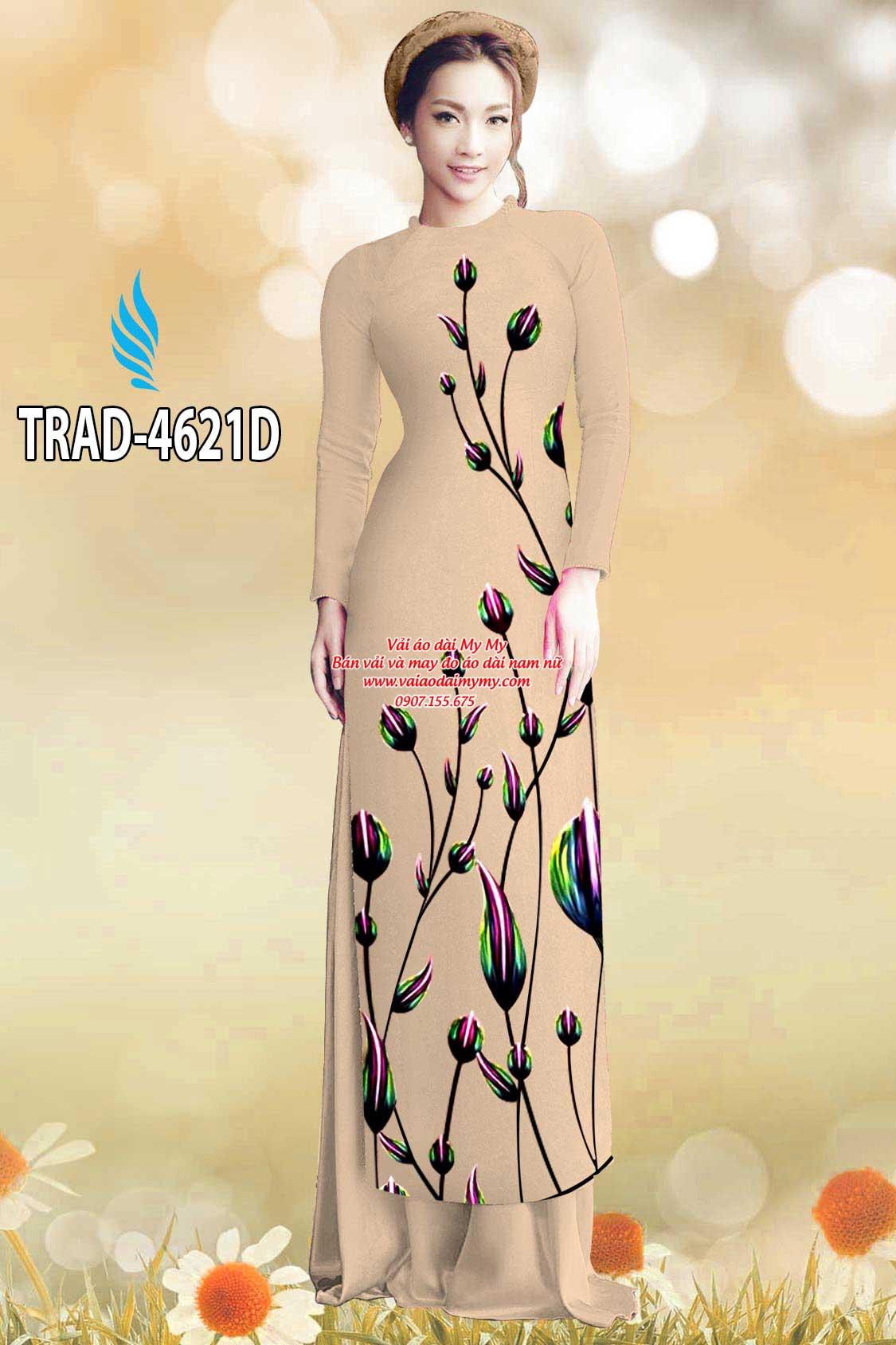 Vải áo dài búp hoa AD TRAD 4621 4