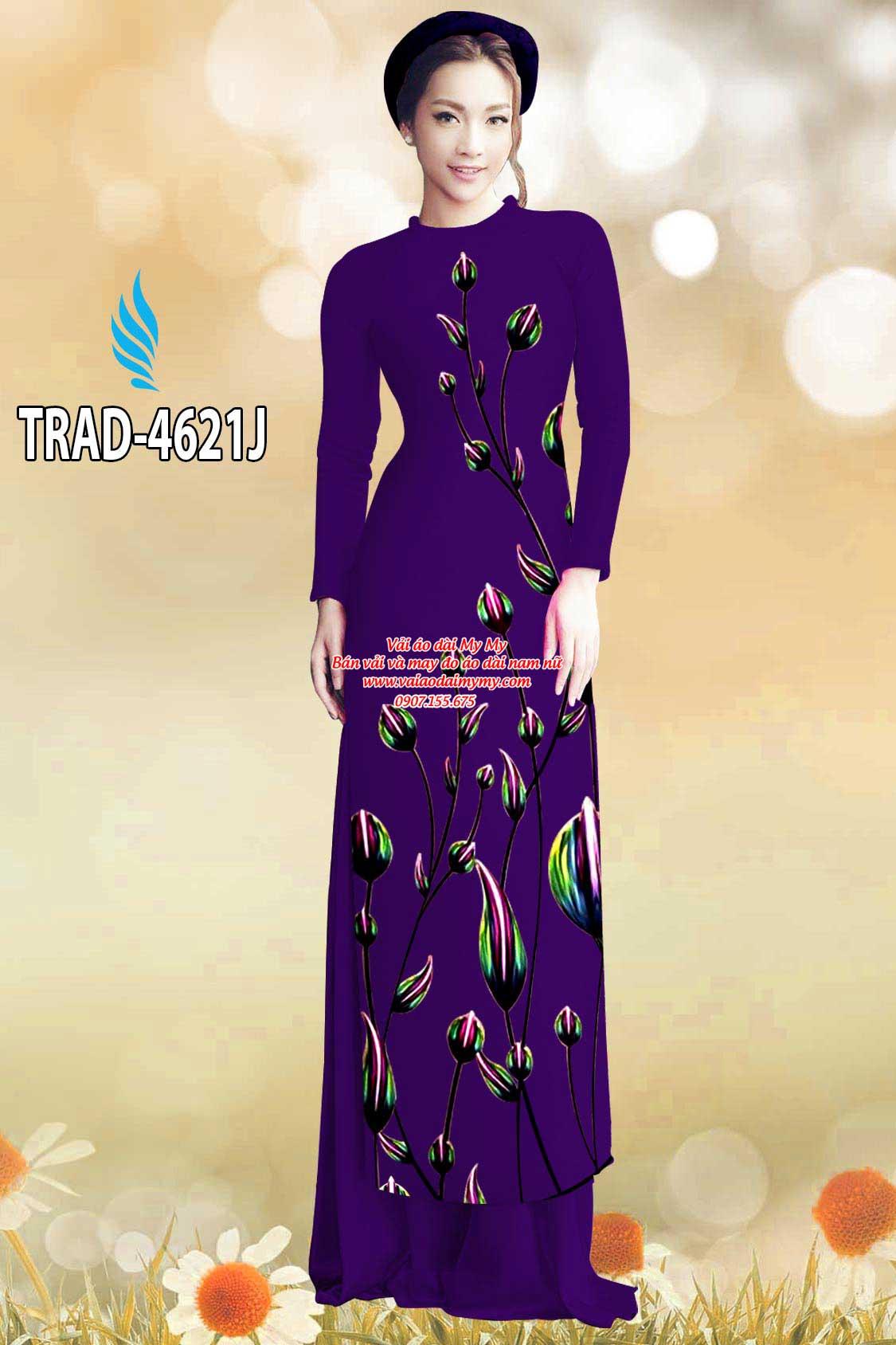 Vải áo dài búp hoa AD TRAD 4621 9