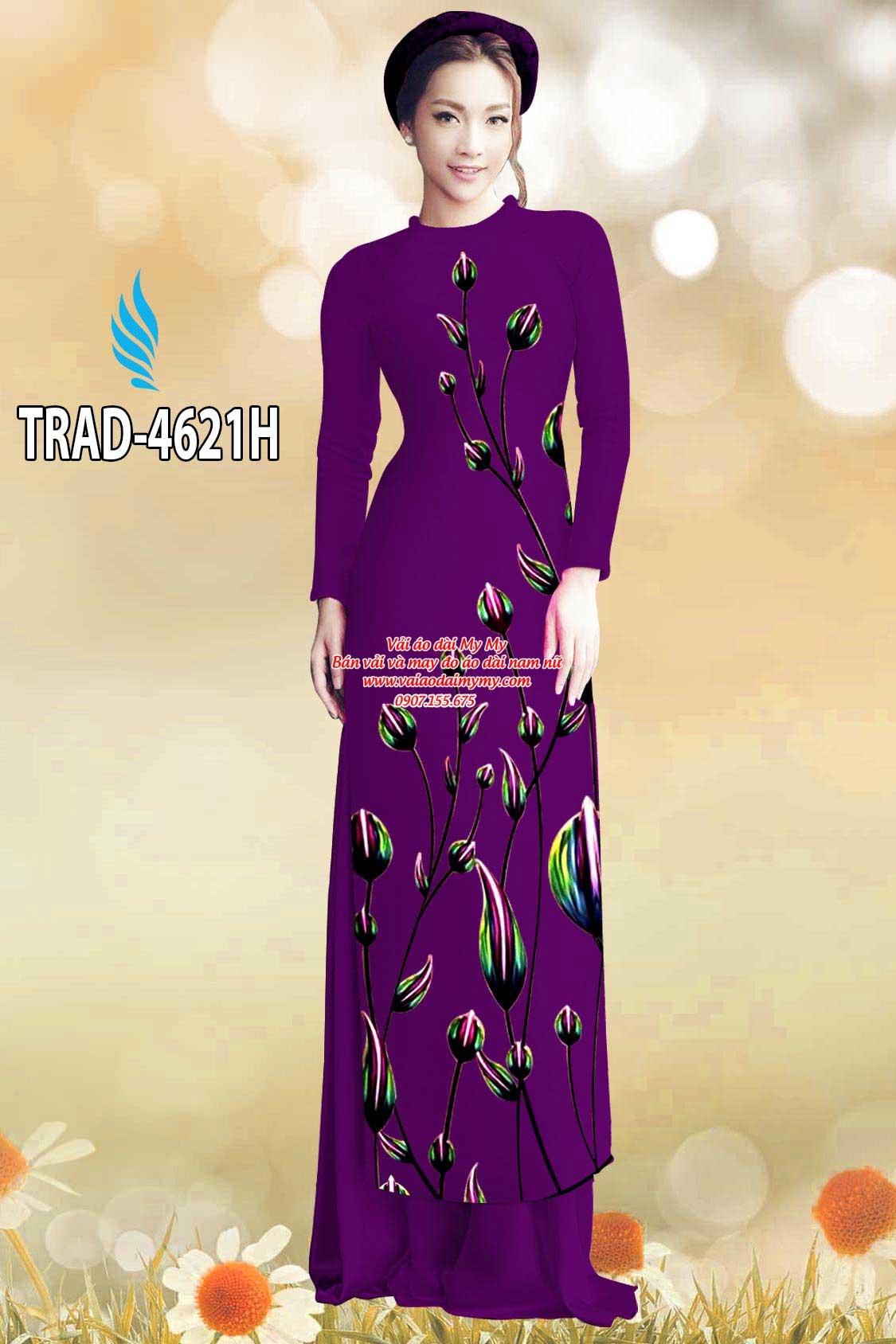 Vải áo dài búp hoa AD TRAD 4621 8
