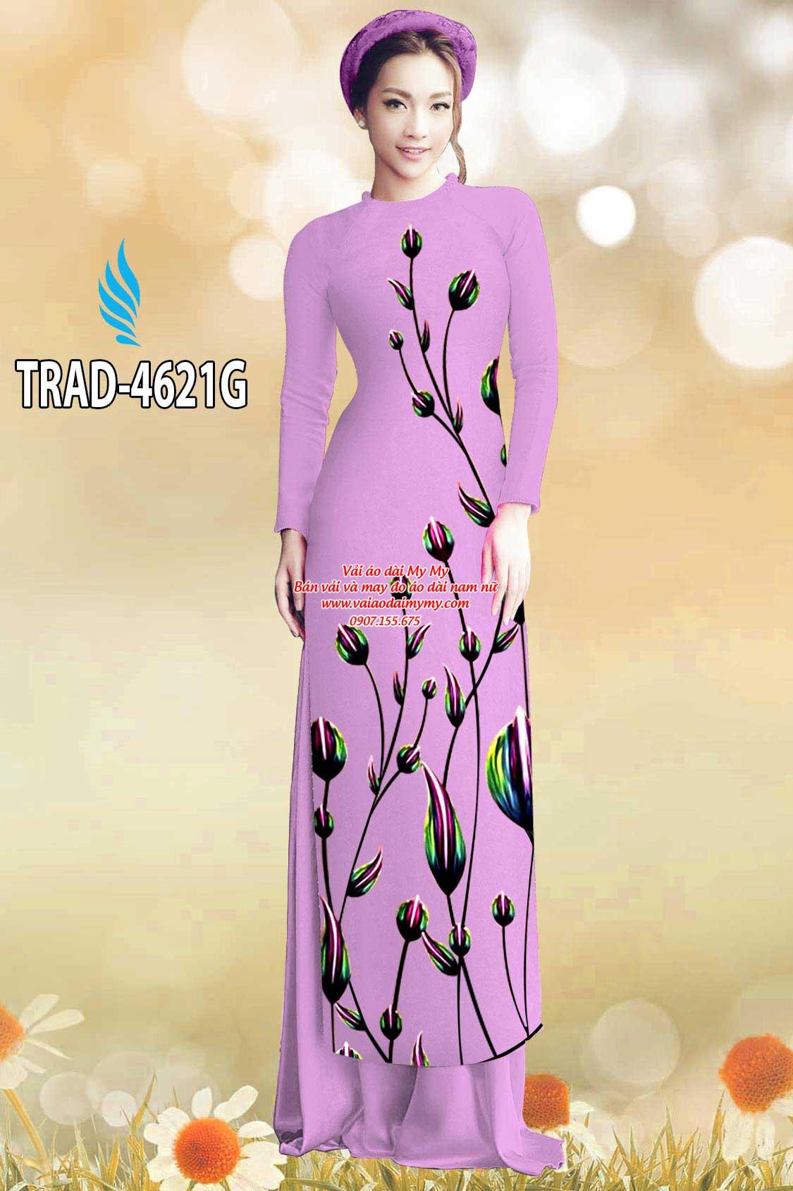 Vải áo dài búp hoa AD TRAD 4621 7