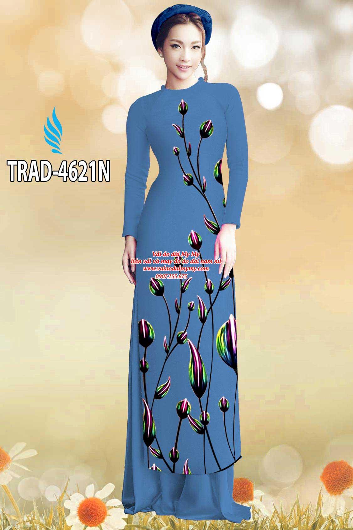 Vải áo dài búp hoa AD TRAD 4621 13