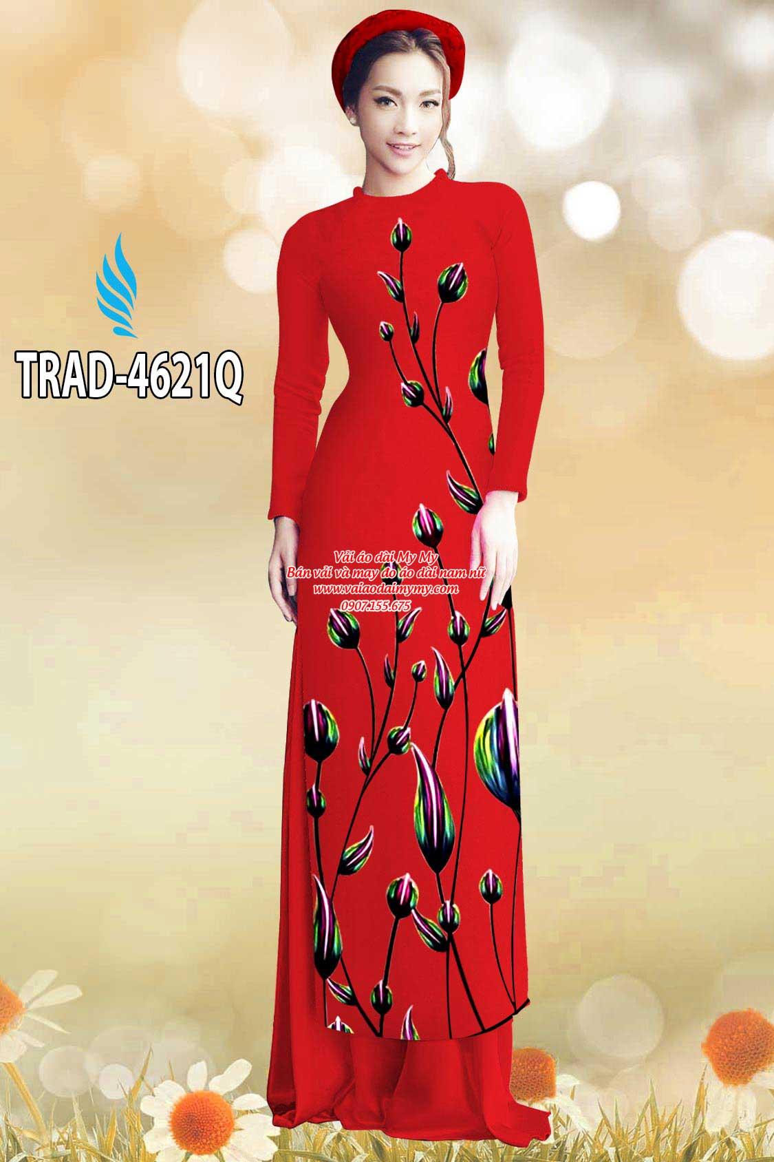 Vải áo dài búp hoa AD TRAD 4621 14