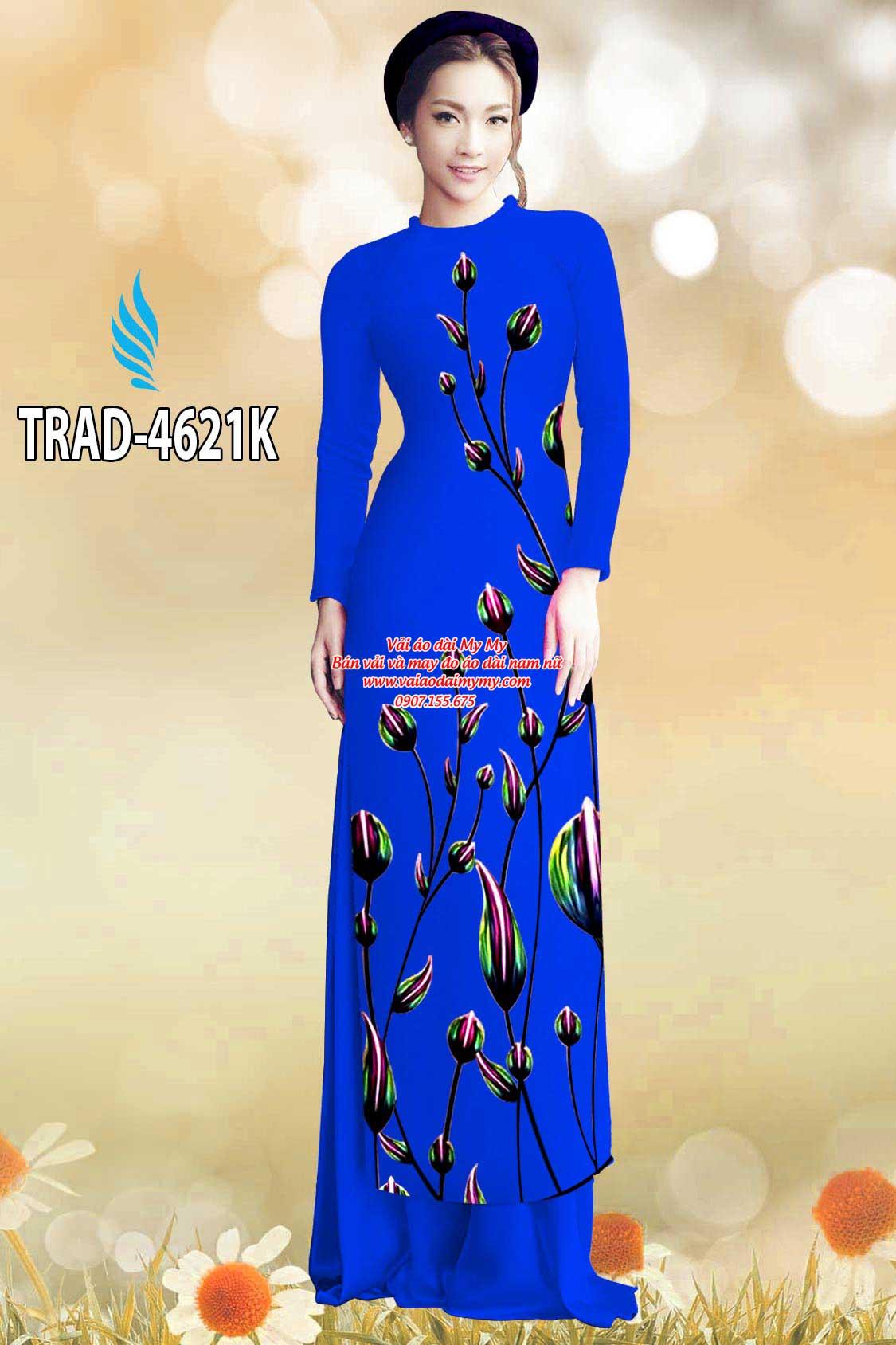 Vải áo dài búp hoa AD TRAD 4621 10