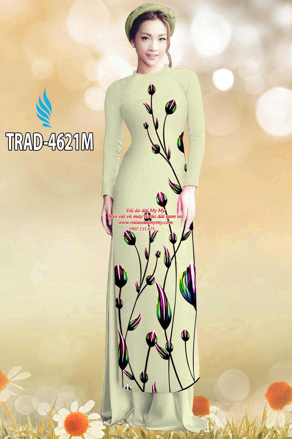 Vải áo dài búp hoa AD TRAD 4621 12