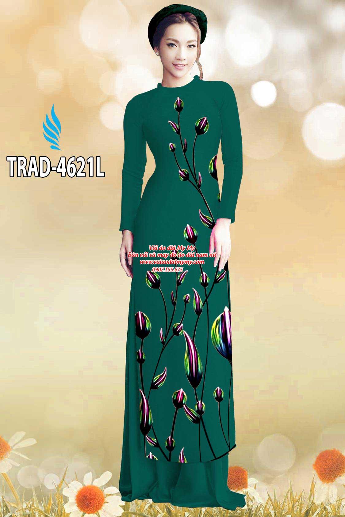 Vải áo dài búp hoa AD TRAD 4621 11
