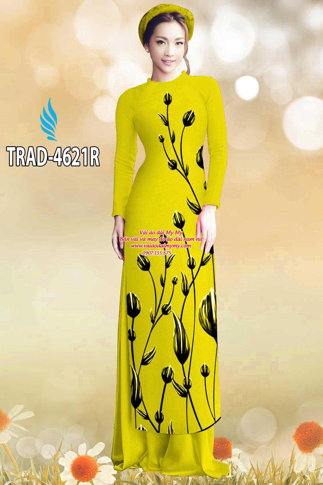 Vải áo dài búp hoa AD TRAD 4621 15