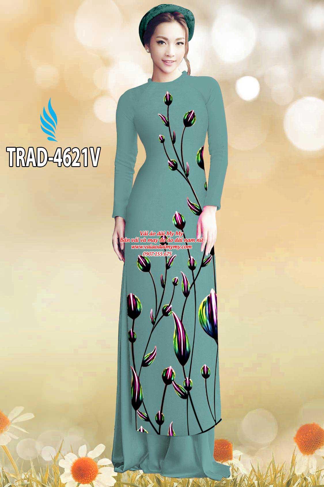 Vải áo dài búp hoa AD TRAD 4621 19