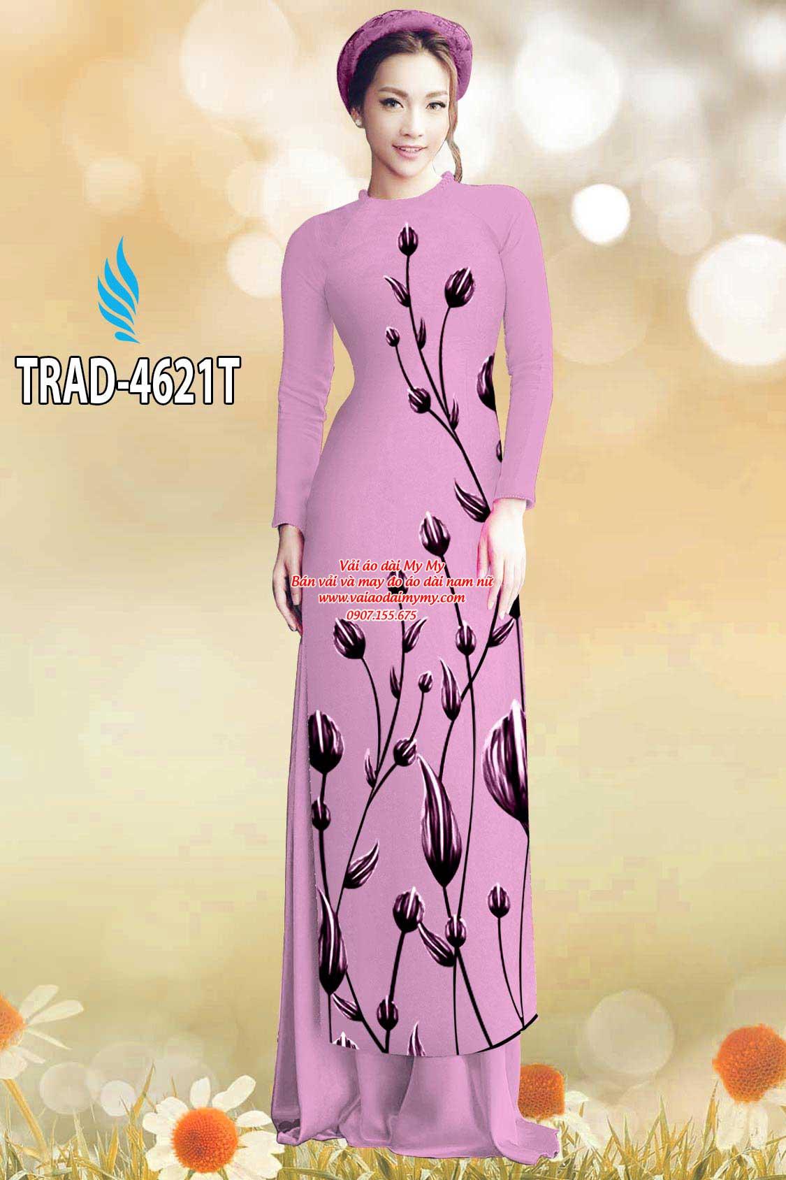 Vải áo dài búp hoa AD TRAD 4621 17