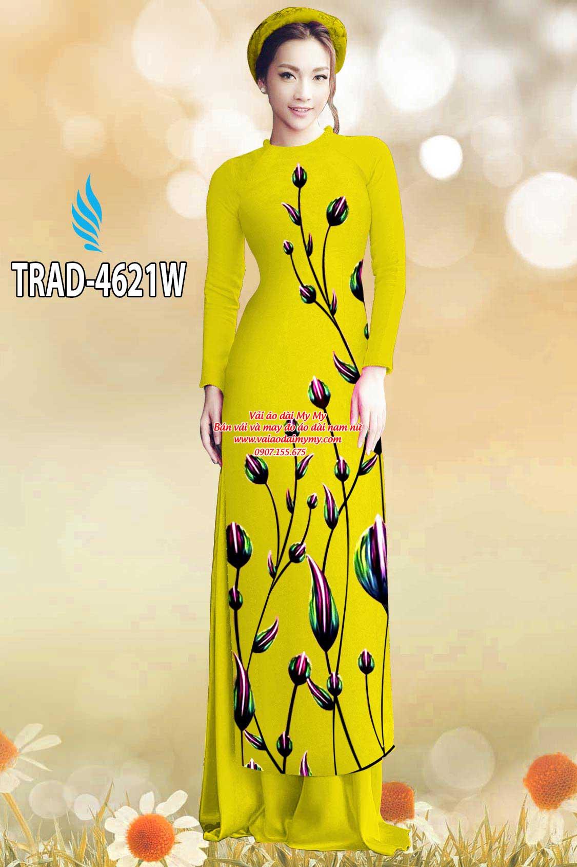 Vải áo dài búp hoa AD TRAD 4621 20