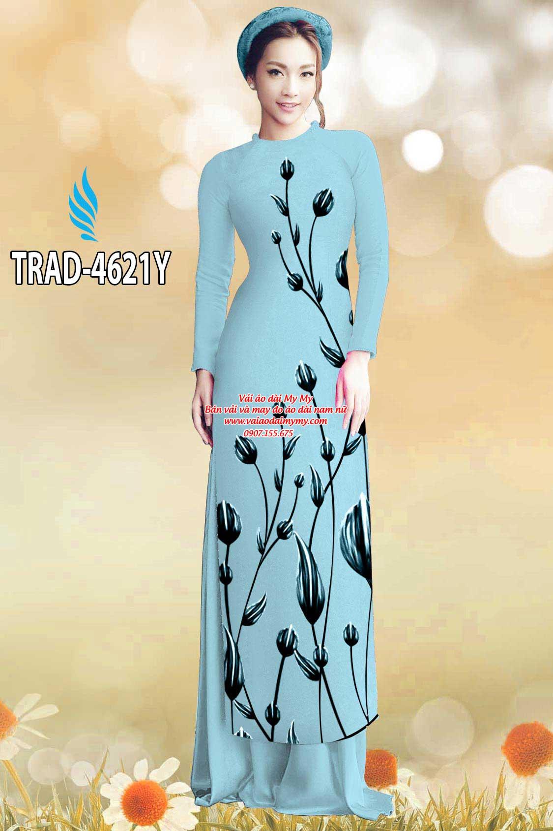 Vải áo dài búp hoa AD TRAD 4621 22
