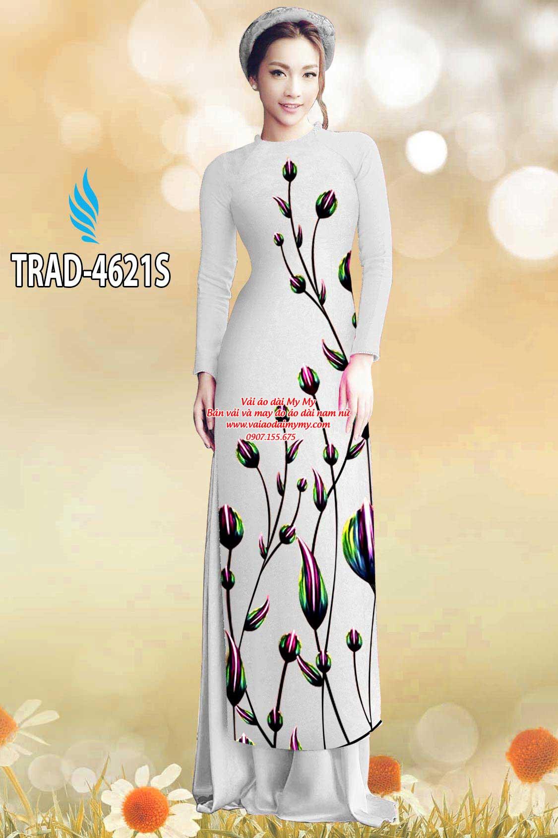 Vải áo dài búp hoa AD TRAD 4621 16