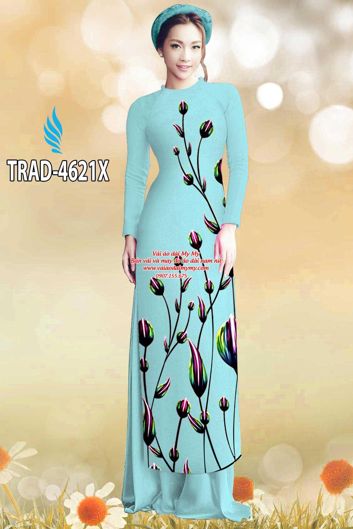 Vải áo dài búp hoa AD TRAD 4621 21
