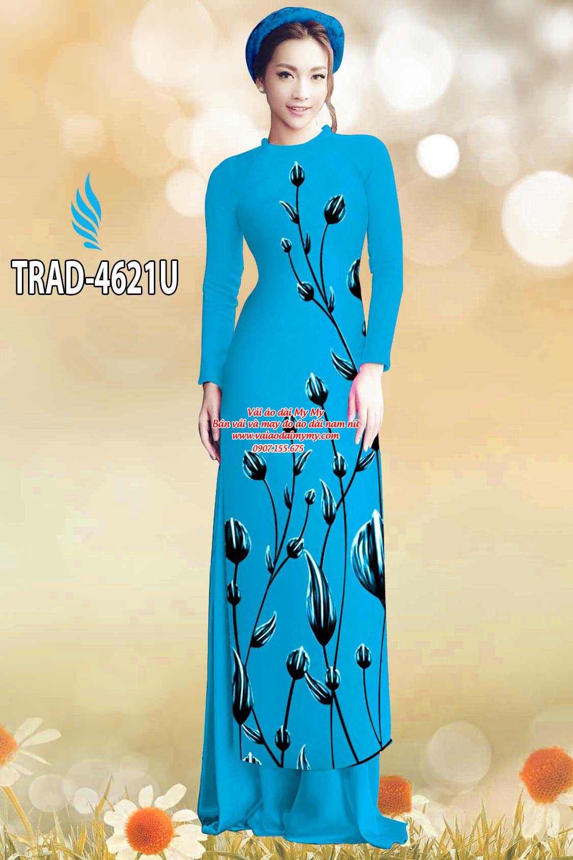 Vải áo dài búp hoa AD TRAD 4621 18